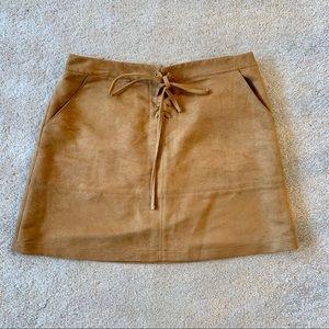 LC Lauren Conrad Faux-Suede Skirt NWOT
